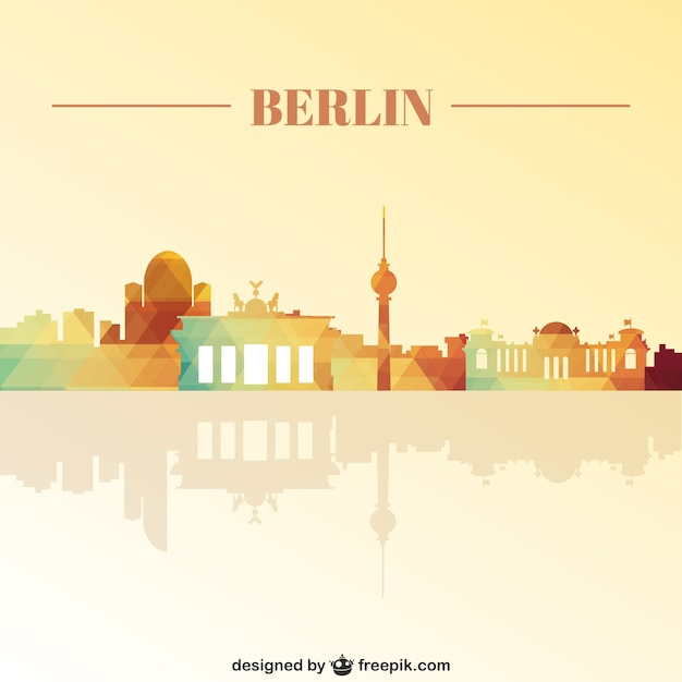 Berlin landmarks skyline Free Vector