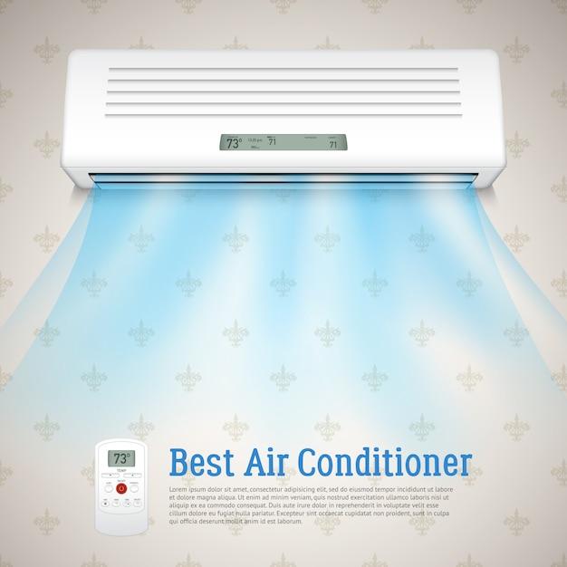 Best air conditioner illustration Free Vector