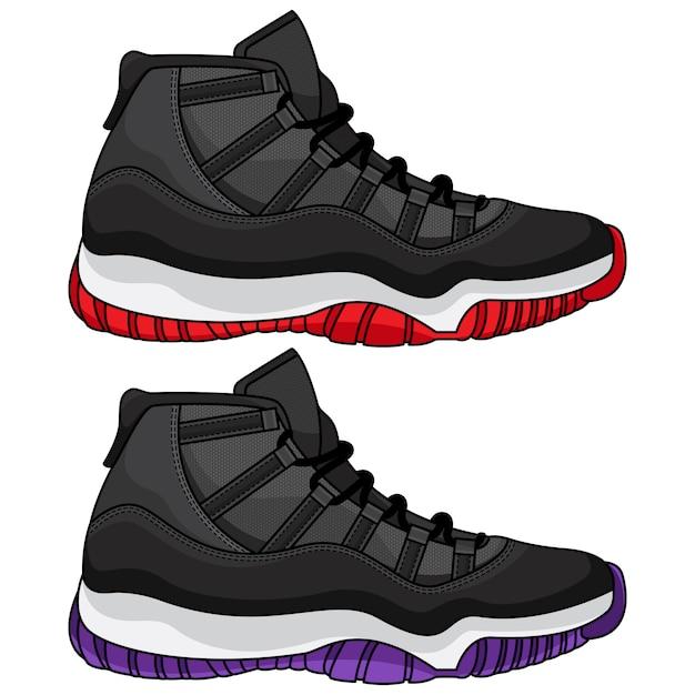 Лучшая баскетбольная обувь Premium векторы
