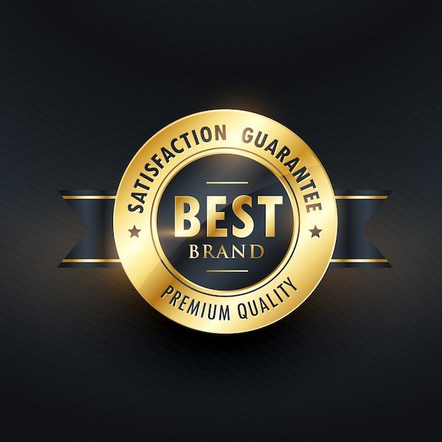 Best brand satisfction golden label Free Vector