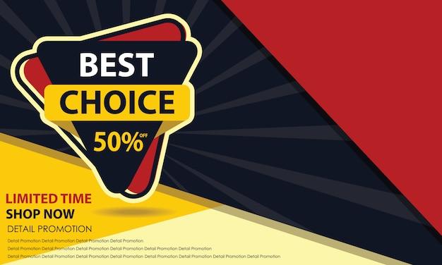 Best choice sale banner Premium Vector