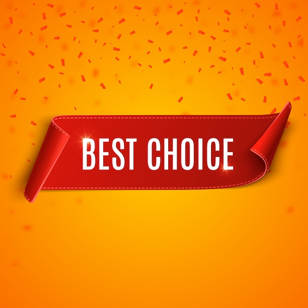 Best choice tag. vector red ribbon isolated Premium Vector