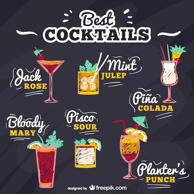 Cocktail Logo Vector Best Cocktails Vector