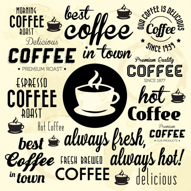 Best Coffe In Town Background Vector Free Download
