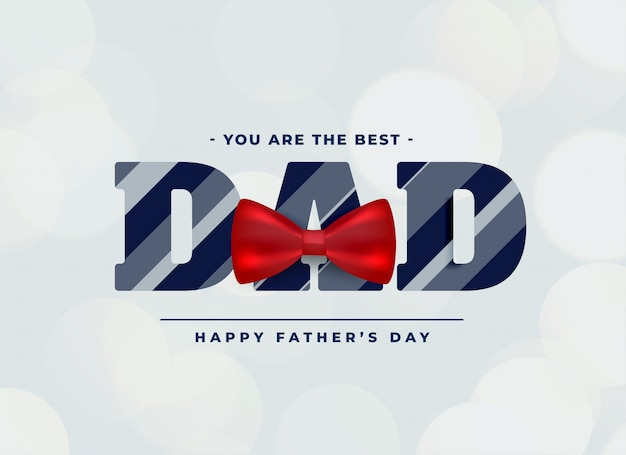 Best dad background with red bow Free Vector