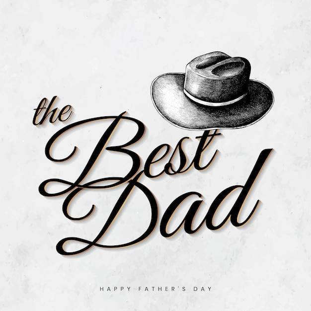 Best dad card Free Vector