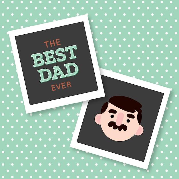 Best dad polaroids Free Vector