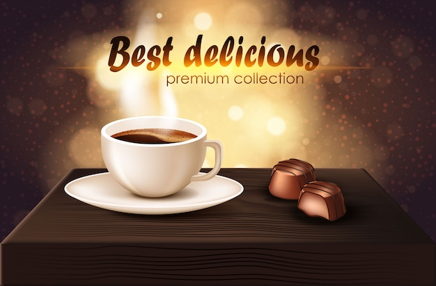 Best delicious premium collection realistic banner Premium Vector