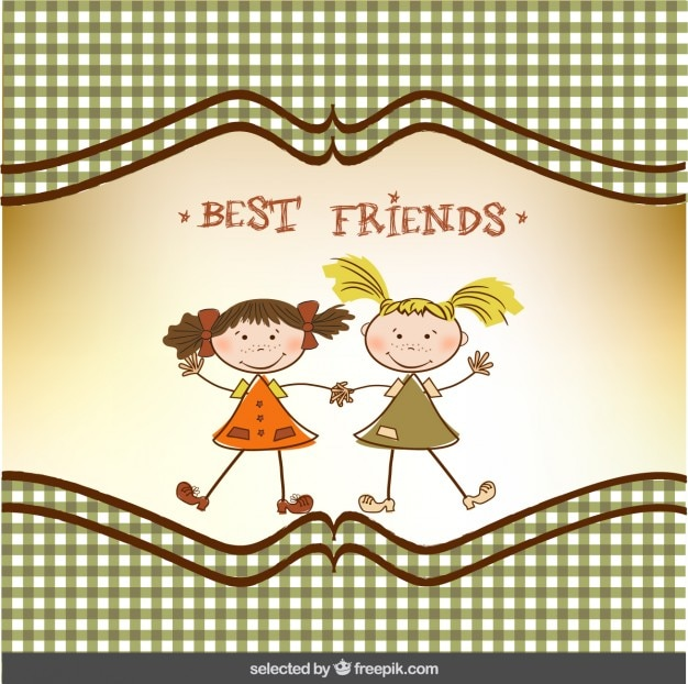 Best friend greeting card Vector | Free Download