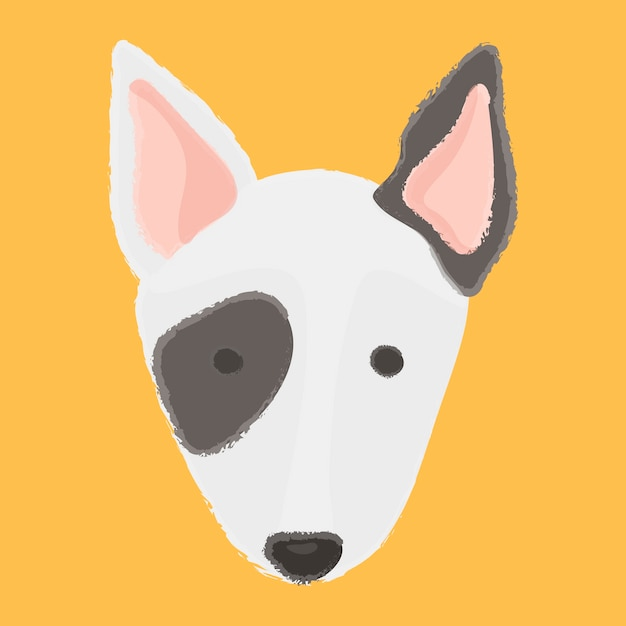 Best friend puppies bull terrier company breed companion Vector