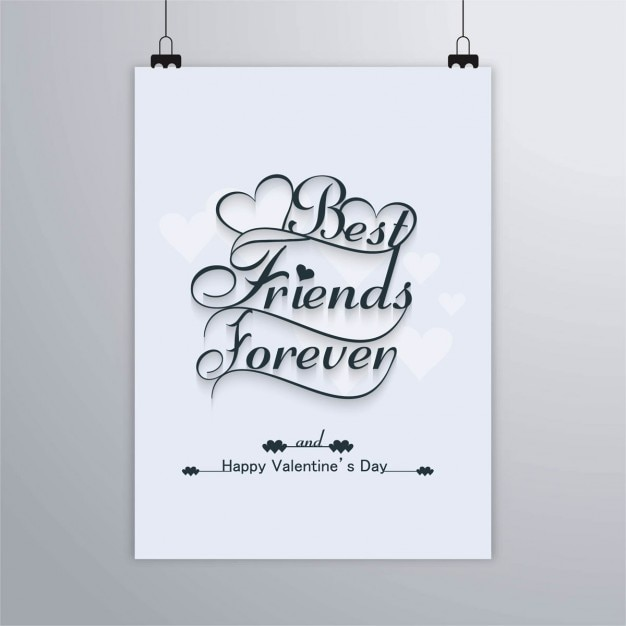 Best Friends Forever, Happy Valentine Free Vector