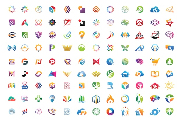 Best logo collections Premium Vector