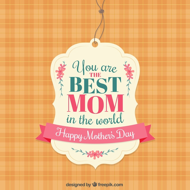 The best mom label Free Vector