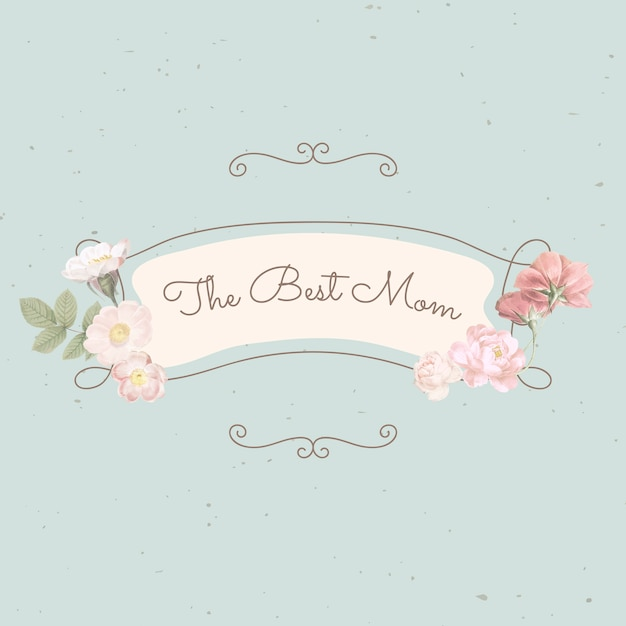 The best mom lettering Free Vector