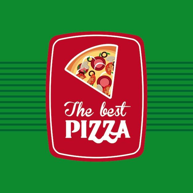 The best pizza over green background vector illustration Premium Vector