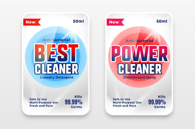 Best power and detergent cleaner template Free Vector