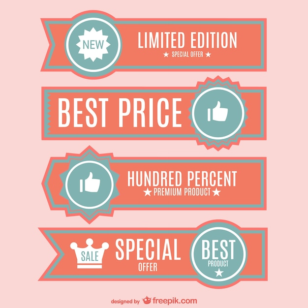 Best price banners set Free Vector