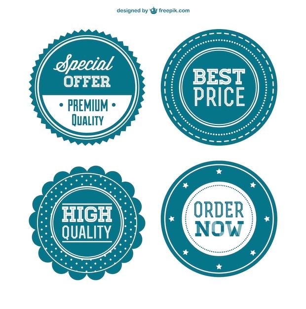 Best price retro badges Free Vector