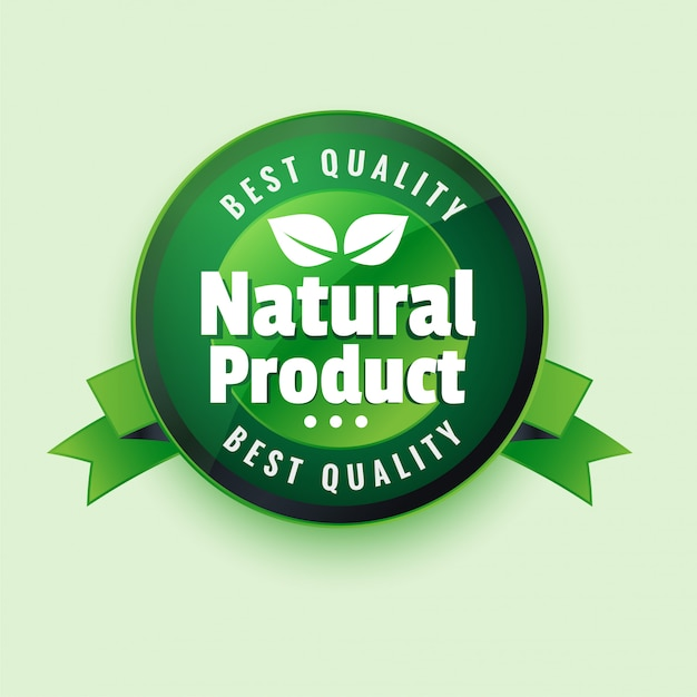 Best qaulity natural product label stocker Free Vector