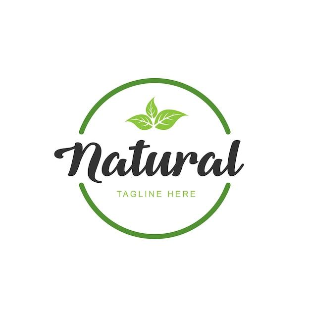 Best quality healthy food logo. premium quality, vegan, green life, organic products. design template Premium Vector