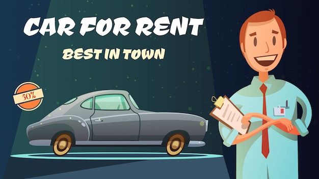 Best rental car prices with excellent service Free Vector