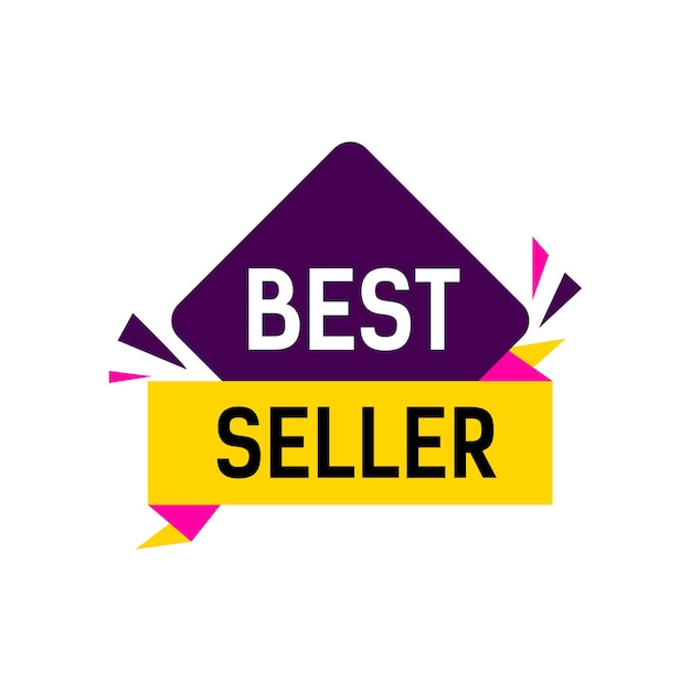best seller lettering vector premium download
