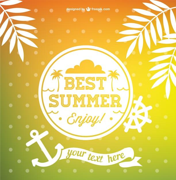 The Best Free Downloads Online: Best Summer Vector Vector