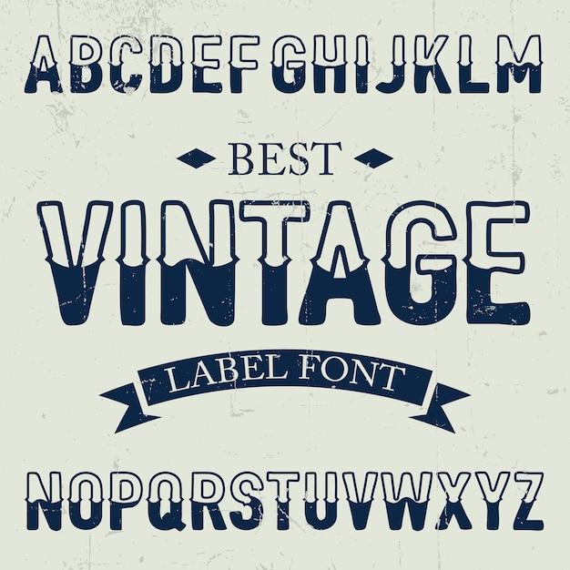 Miglior poster di caratteri vintage sull'illustrazione di rumore polveroso Vettore gratuito