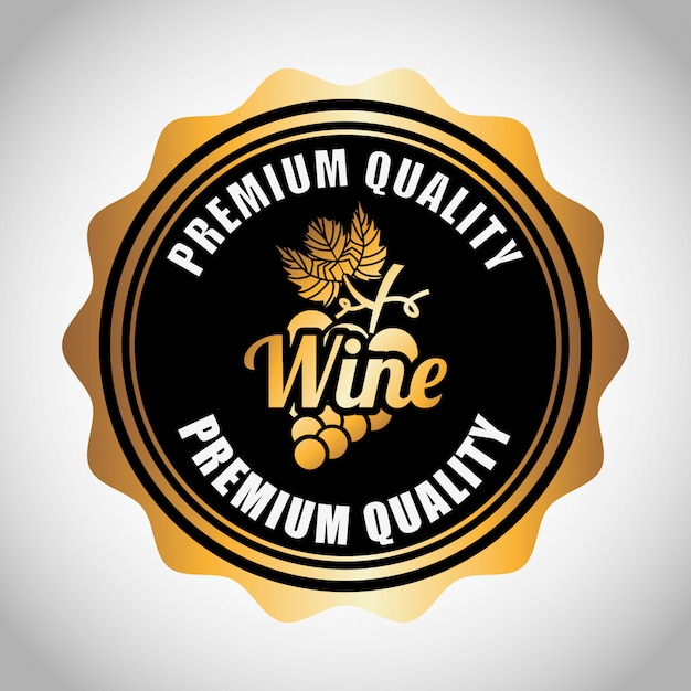 Best wine label Free Vector