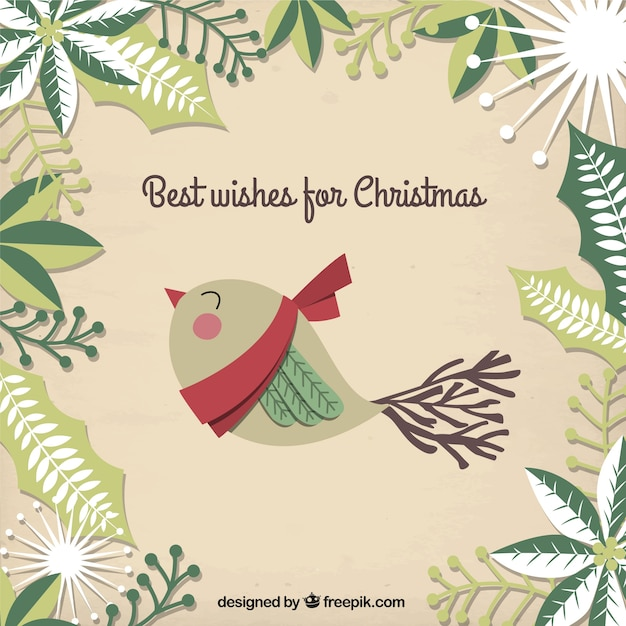 Best wishes for christmas, card Vector | Free Download