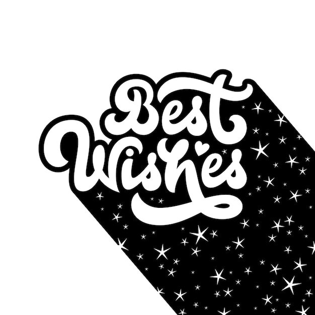 Best wishes greeting card Premium Vector
