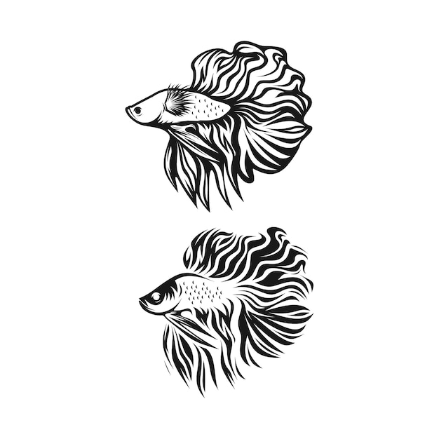 ベタの魚のクリップアート Premiumベクター
