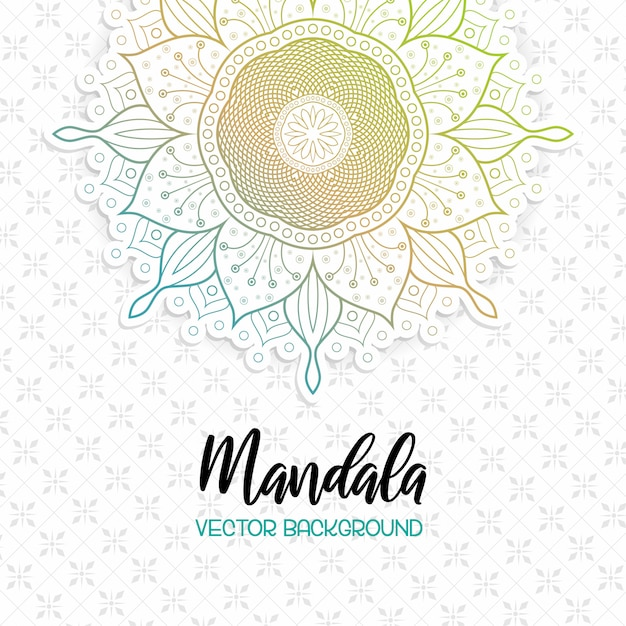 Beutiful mandala white background Premium Vector
