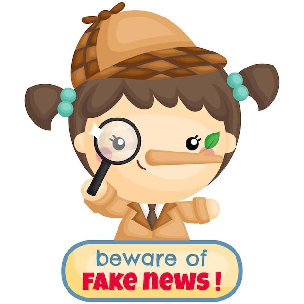 Beware of fake news Premium Vector