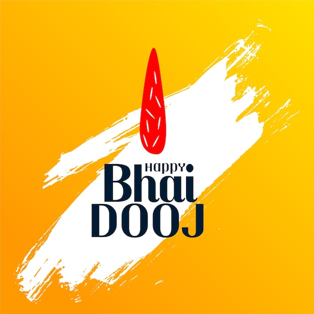 Бхаи дудж индийский фестиваль фон мазок кистью Бесплатные векторы