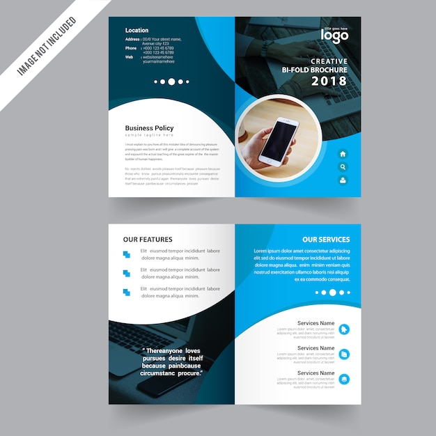 bi fold brochure design template vector premium download