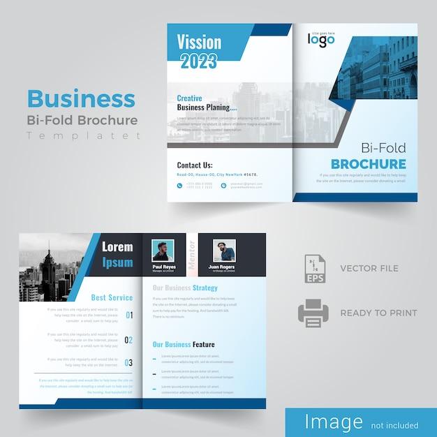 Bi fold brochure design Premium Vector