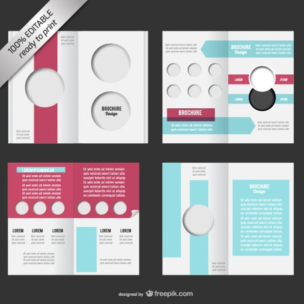 Bi Fold Editable Brochure Mock Up Free Vector