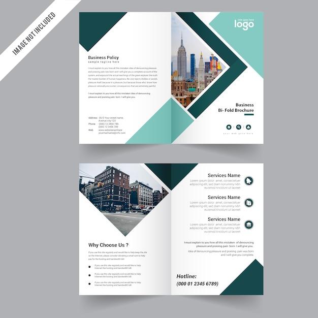 bi fold simple brochure design premium vector
