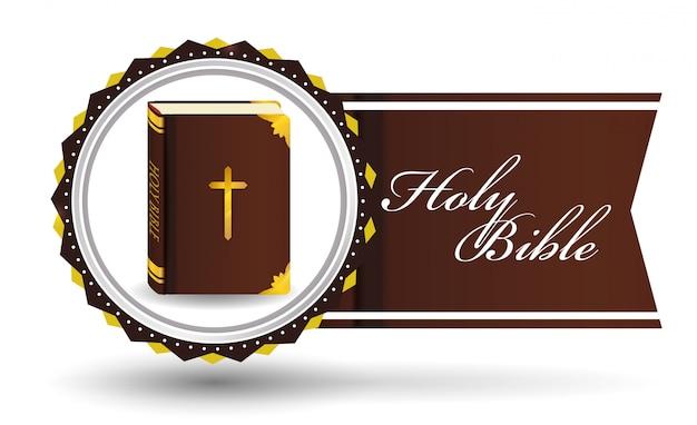 Bible icon design Premium Vector