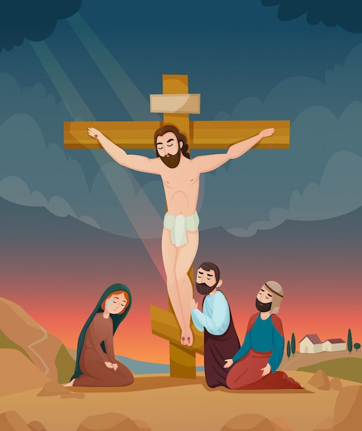 Bible story illustration Free Vector