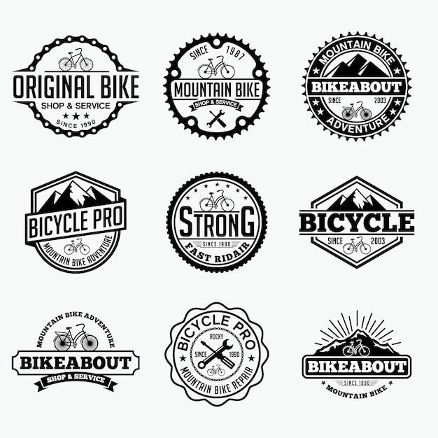 Bicycle badges logo Premium Vector