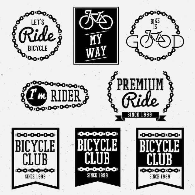 Bicycle badges Premium Vector