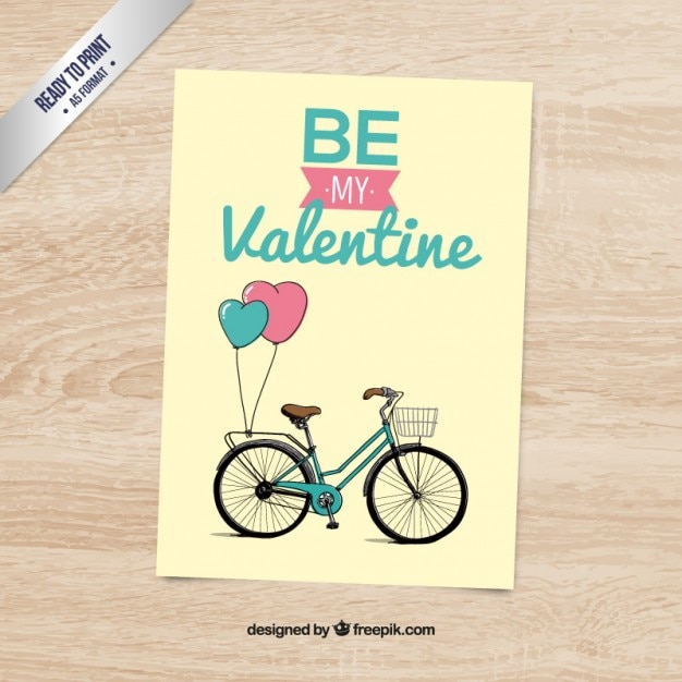 Bicycle be may valentine card