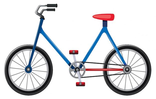 Bicycle cartoon isolated Free Vector