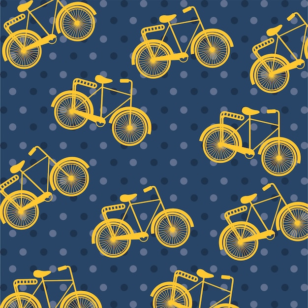 Bicycle design over dotted   background Premium Vector