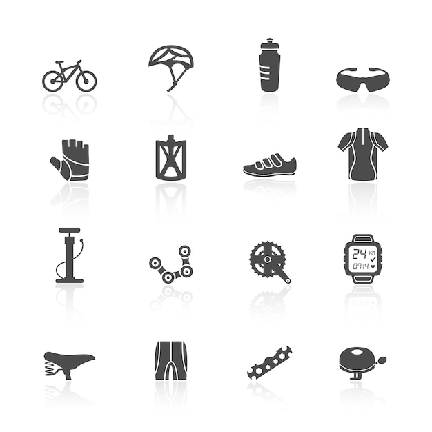 Bicycle icons Free Vector