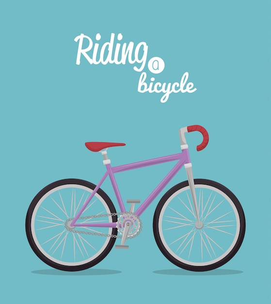 Bicycle lifestyle design Premium Vector