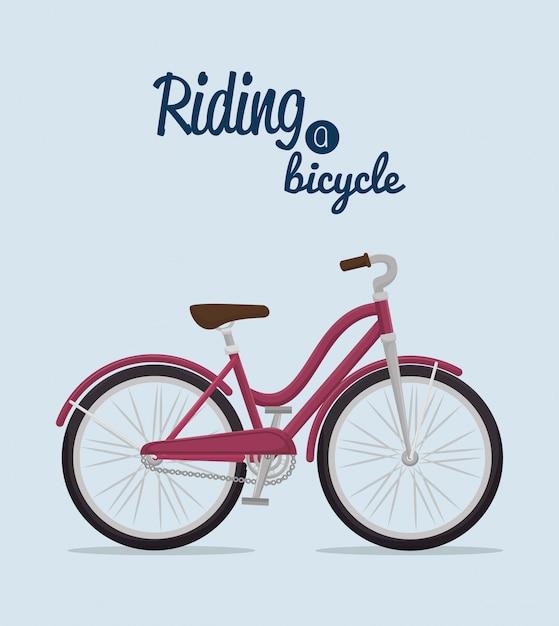 Bicycle lifestyle design Premium Vector