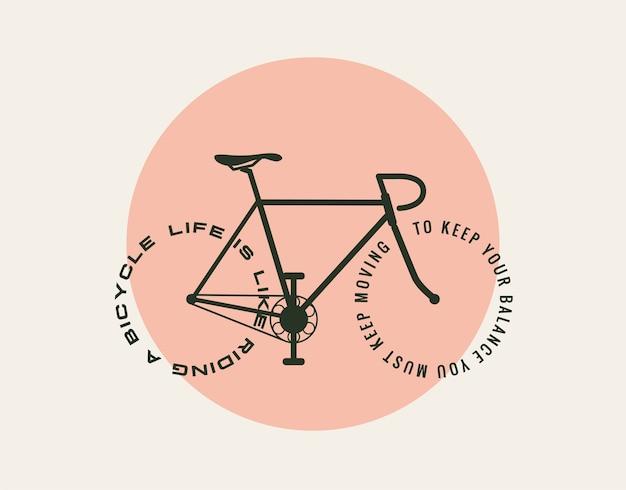 Дизайн мотивационной концепции велосипедов Premium векторы